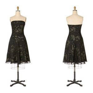 Tabitha Black Floral Strapless Dress Size 6